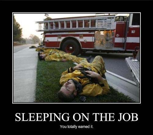 firefighters job sleeping funny - 7874195968
