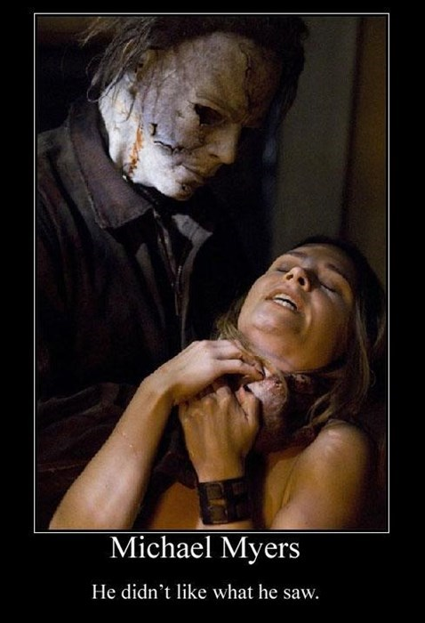 michael myers angry funny hallowen - 7874246912