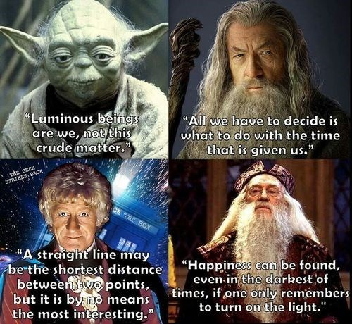 wisdom dumbledore gandalf doctor who yoda