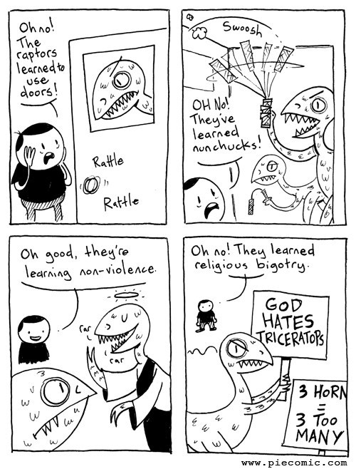 religion,learning,funny,dinosaurs,web comics
