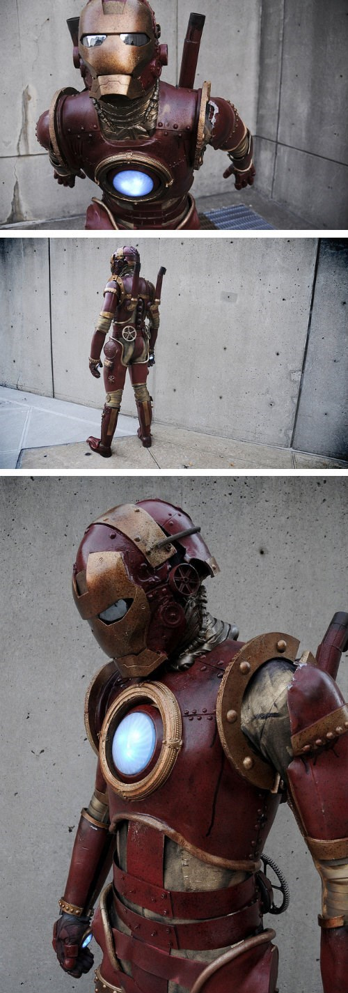 costume cosplay steam punk iron man - 7874345472