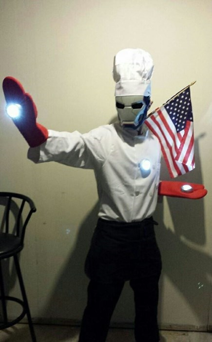 costume iron chef marvel puns iron man - 7874347008