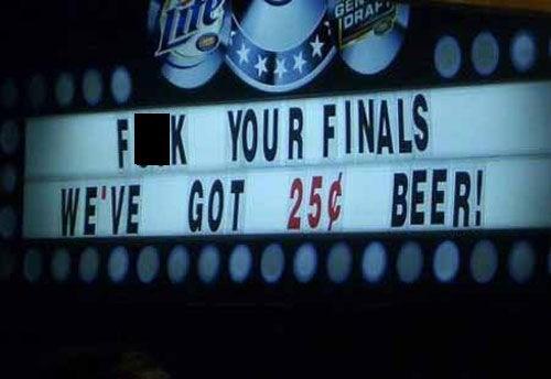 bar beer sign finals funny after 12