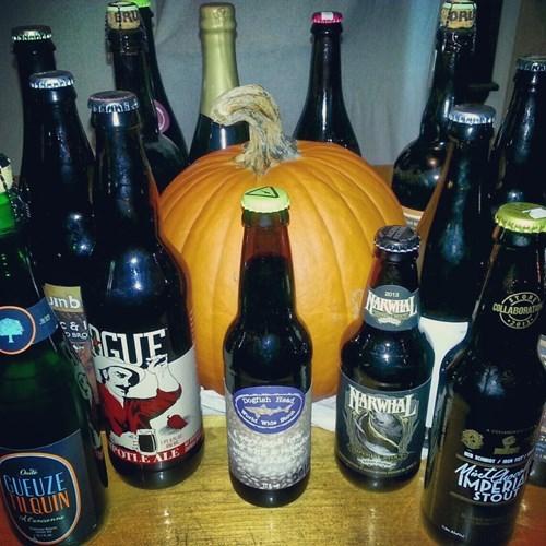 beer pumpkins halloween funny fall - 7874404608