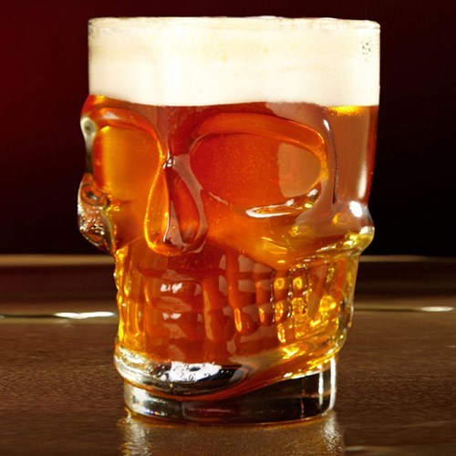 beer awesome skull glass - 7874408448