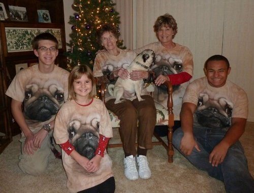 dogs,pugs,family portrait,shirts