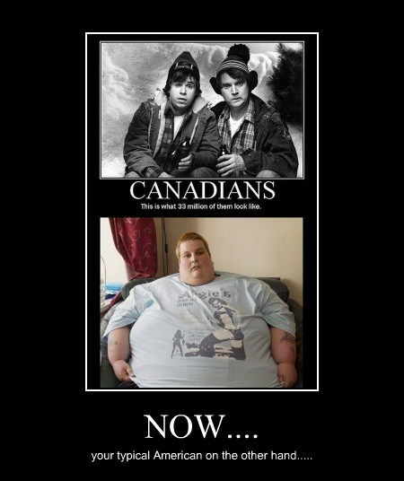 Canada americana fat jokes funny