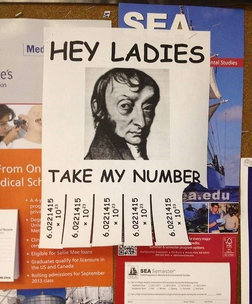 free stuff Chemistry avogadro's number funny take one - 7874554624
