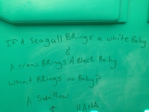 Bathroom Graffiti,innuendo,puns,funny