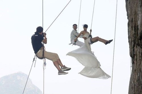 marriage photography heights funny vertigo - 7874612480