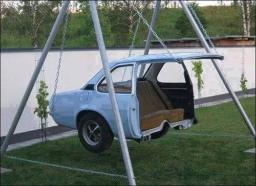 swingset cars DIY funny