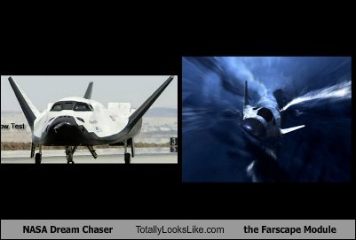 nasa,totally looks like,farscape,dream chaser,space ships,funny
