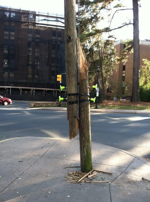 utility pole tape there I fixed it - 7874831104