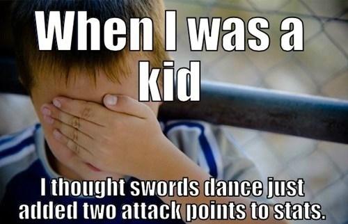 Pokémon confession kid swords dance Memes