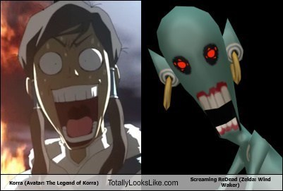 crossover totally looks like cartoons zelda korra - 7875013632
