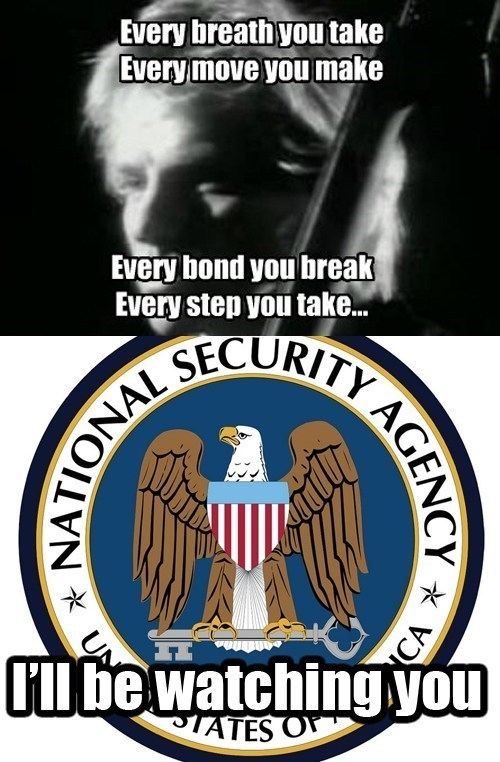 NSA,every breath you take,sting