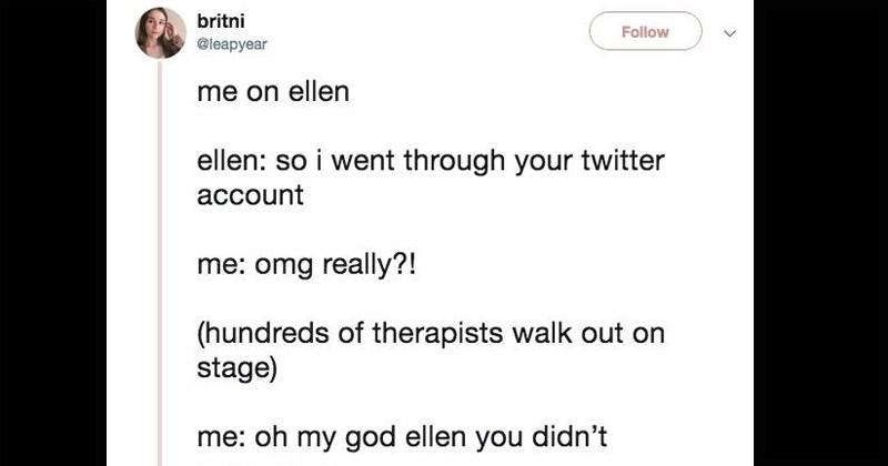 twitter me on ellen trending the ellen show tv shows wishes funny tweets desires ellen degeneres talk show parody mental health - 7875589