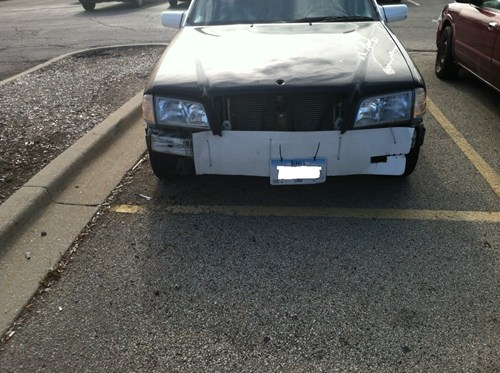 zip ties,cars,paper,bumper,there I fixed it