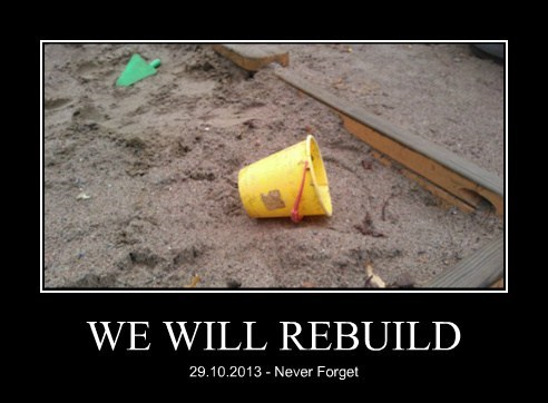 rebuild,sand castle,too soon,never forget