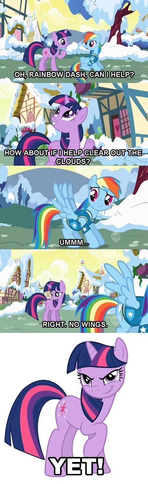 alicorn twilight sparkle winter wrap-up rainbow dash - 7875797504