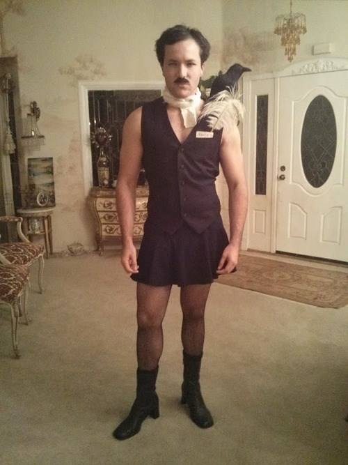 costume,halloween,Edgar Allan Poe,Spooky FAILs and HalloWINs,g rated,poorly dressed