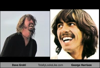 Dave Grohl,totally looks like,george harrison