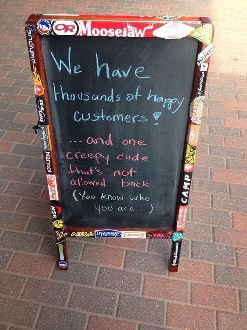 happy customers,business signs,creepers