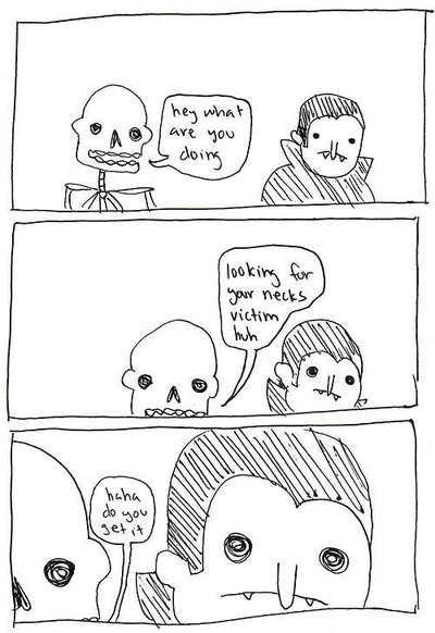 halloween puns vampires skeletons web comics - 7876215808
