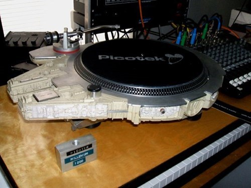 turntable,Music,star wars,nerdgasm,funny