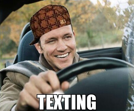 scumbags driving texting - 7876325120