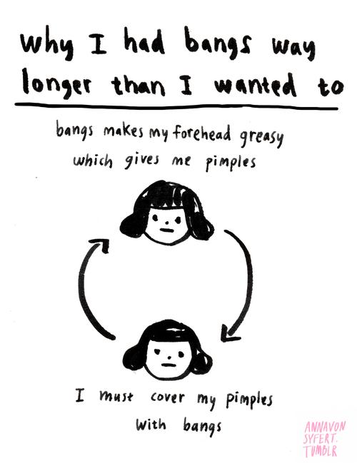 hair bangs puns problems funny web comics - 7876463872