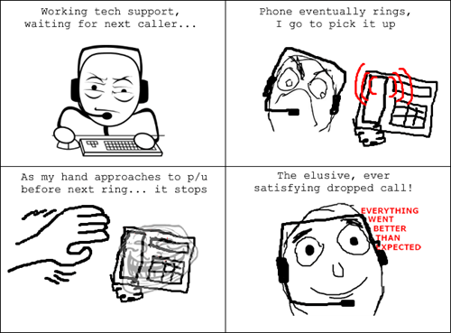 customer service tech support phone calls everything went better than expected