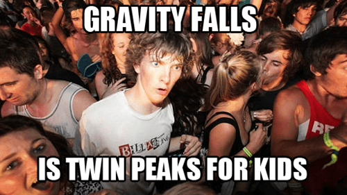 gravity falls cartoons Twin Peaks sudden clarity clarence - 7876550400