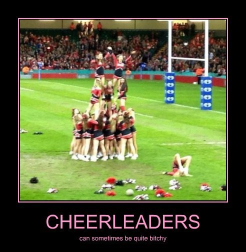 cheerleaders,jerks,pyramid,funny