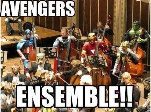 Music,puns,ensamble,avengers