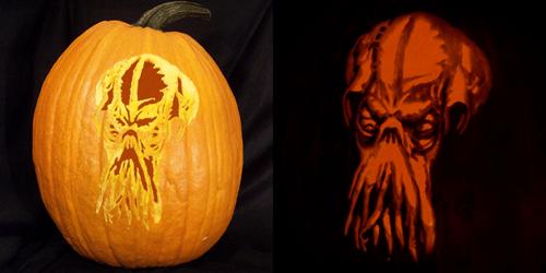 pumpkins,jack o lanterns,cthulhu