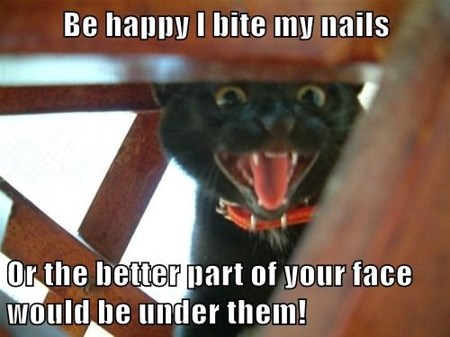 Be Happy I Bite My Nails Or The Better Part Of Your Face Would Be