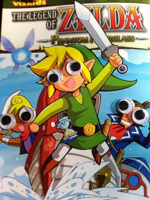 googly eyes zelda derp