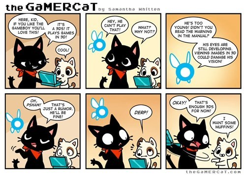3DS,the gamer cat,video games,web comics