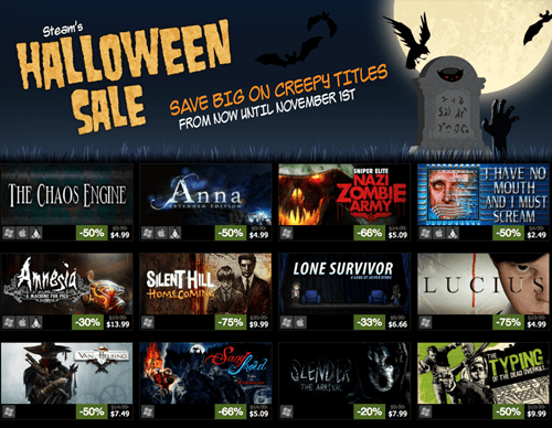 steam halloween sales Video Game Coverage - 7877505280