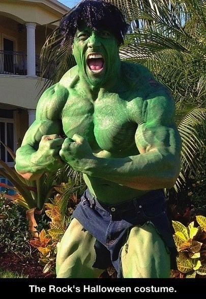 the hulk,costume,halloween,the rock,ghoulish geeks,famously freaky,g rated