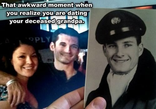 Awkward Moment Doppelgänger Grandpa funny dating g rated - 7877649920