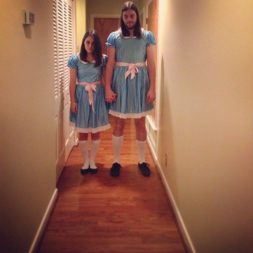 costume,halloween,twins,famously freaky,g rated,the shining