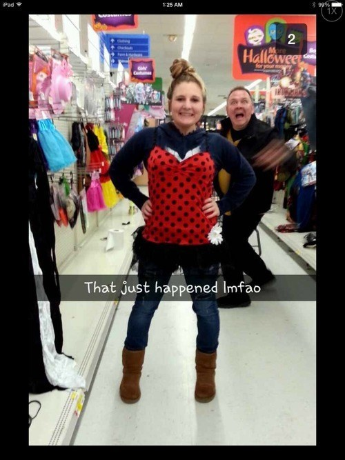 costume photobomb shopping halloween ladybugs - 7877769728