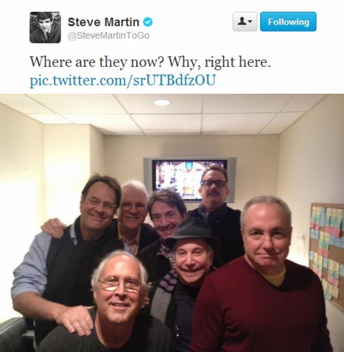 Martin Short,tom hanks,SNL,Lorne Michaels,Chevy Chase,Steve Martin,celebrity twitter,dan ackroyd,Paul Simon