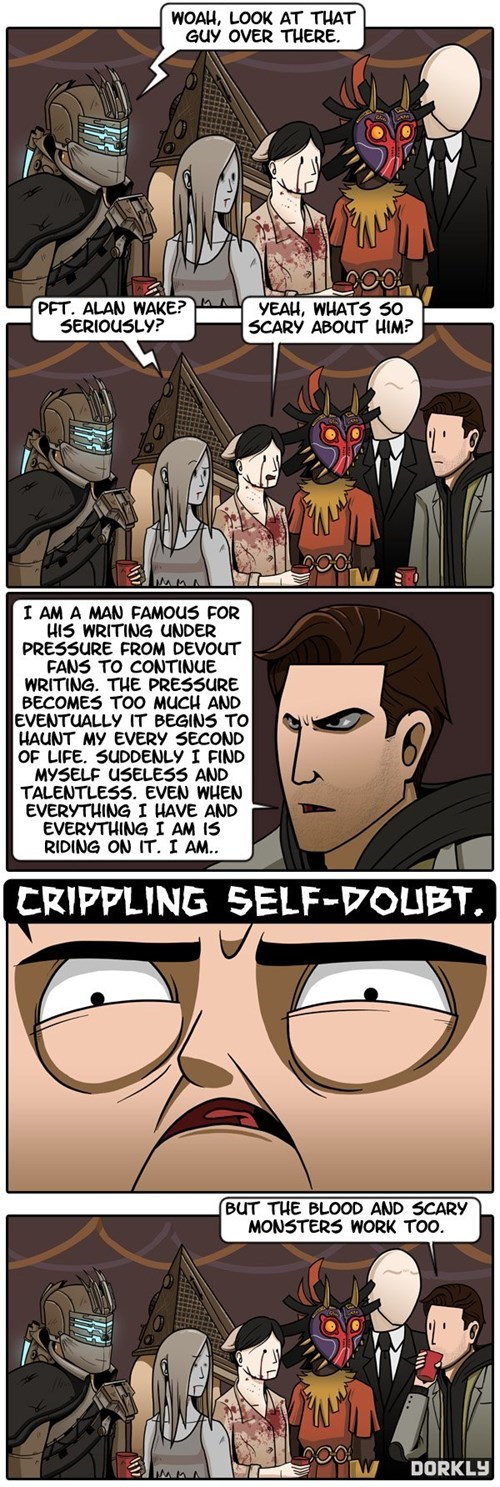 scary,alan wake,dorkly,horror games,web comics