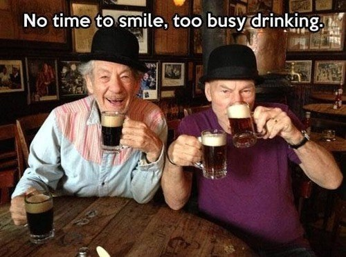 drinking,ian mckellen,funny,patrick stewart,after 12,g rated