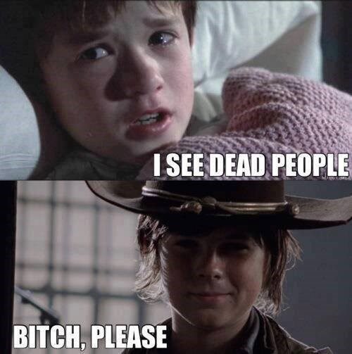 carl grimes,Sixth Sense,The Walking Dead