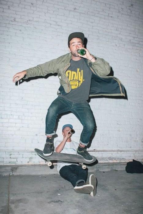beer drinking booze skateboard funny