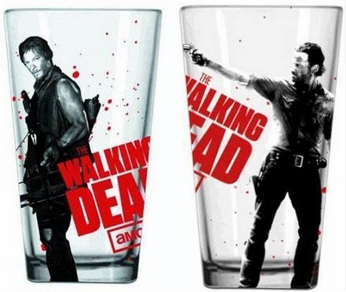 awesome,pint glass,funny,The Walking Dead
